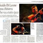 """Recensione di """"Standards on Guitar vol.2"""" a cura di Ugo Sbisà per La Gazzetta del Mezzogiorno"""